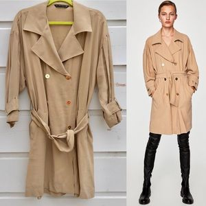 ZARA trench coat inspired dress